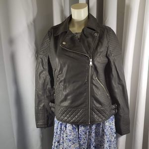 YMI Vegan Leather Jacket 			 Size L